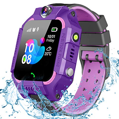 GBD Kids Smart Watch for Boys Girls -IP67 Waterproof Smartwatch Phone with Call Games SOS Alarm Clock 12/24 Hr,Kids Digital Wrist Watch for 3-12 Years Students Learning Toys Birthday Gifts (Purple)