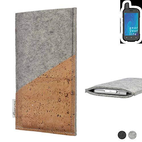 flat.design Handy Hülle Evora für Ruggear RG720 Schutz Tasche Kartenfach Kork passexakt handgefertigt fair