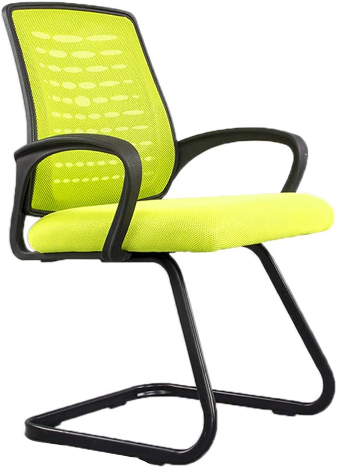 Study Chair, Breathable Wear Resistant Easy to Clean Chair Lumbar Support Back Support Chair Bedroom Office Meeting Room Chair (color   Green)