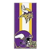 """NFL Minnesota Vikings """"Zone Read"""" Beach Towel, 30"""" x 60"""""""