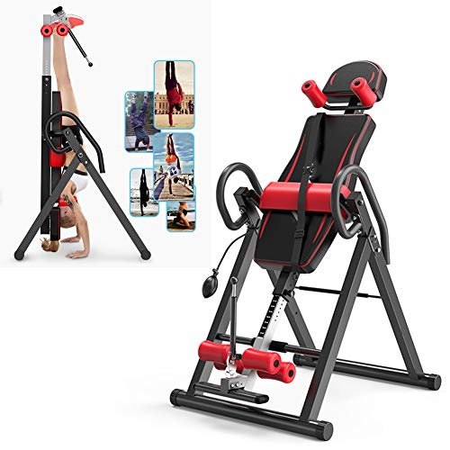Find Discount Starsmyy Inversion Table Therapy Bench Home Fitness Upside Down Stretching Home Gym Fi...