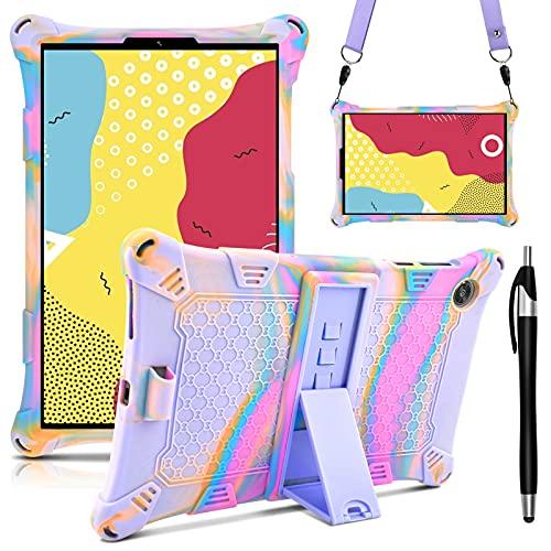 KATUMO Funda Compatible con Lenovo Tab M10 Fhd Plus 10.3, Funda De Silicona para M10 Fhd 10.3' 2020 (tb-x606f/x606x) Lágrima Y Lápiz Stylus para Tableta