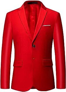 YFFUSHI Mens Slim Fit Blazer Jacket Two-Button Notched Lapel Casual Suit Jacket
