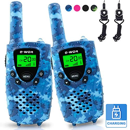 E-WOR Walkie Talkies for Kids Rechargeable, 4 Miles Range 22 Channels 2 Way...