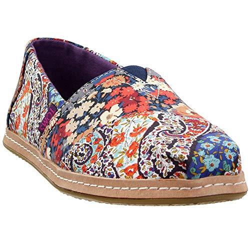 TOMS Womens Alpargata x Liberty London Casual Flats Shoes, Multi, 5.5