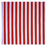 Stoff, rot-weiß gestreift, 11 mm breite Streifen,