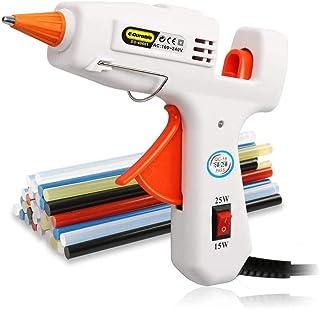 comprar comparacion E·Durable Mini Pistolas de encolar con 30 Piezas Barras de Pegamento Colorido para DIY Pequeño Arte, Ideal para Manualidad...