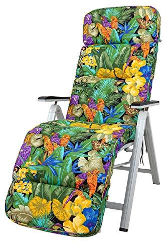 Kettler Polen KETTtex 8194 Auflage Relaxliegen Kreta Papagei bunt Sitzpolster 175x50x8 cm (ohne Liege)