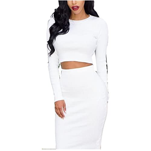 df06def51 Kardashian White Dress Two Piece Set Long Sleeves