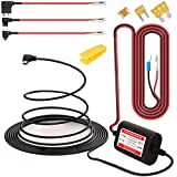 Gebildet Dash Cam Hardwire Kit Mini USB,10ft 12V-24V to 5V Low Voltage Protection ACN/ACS/ACU Add a Circuit Fuse Holders (Right Angel Mini USB+Fuse kit)