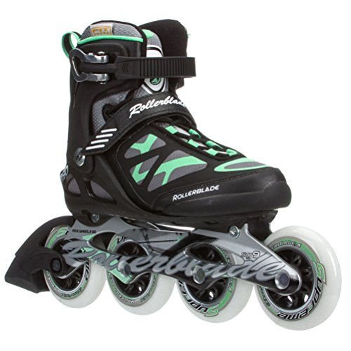 Rollerblade 2015 MACROBLADE 90 High Performance Fitness/Training Skate with 90mm Wheels, Black/Green, US Women's 6