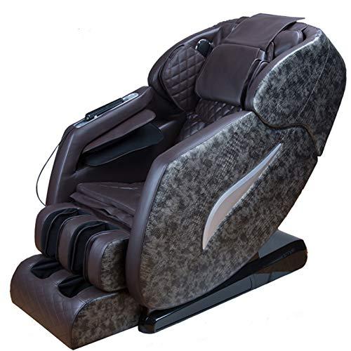TXYJ Sillón de Masaje Shiatsu con S-Track, Sillón de Masaje de Gravedad Cero, Sillón reclinable Mecedora de Cuerpo Completo con Estiramiento de Yoga con Rodillo de pie Bluetooth
