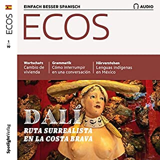 ECOS Audio - Dali, Ruta surrealista en la Costa Brava. 1/2019     Spanisch lernen Audio - Surrealismus-Route an der Costa Brava              Autor:                                                                                                                                 Covadonga Jimenez                               Sprecher:                                                                                                                                 div.                      Spieldauer: 1 Std. und 3 Min.     Noch nicht bewertet     Gesamt 0,0