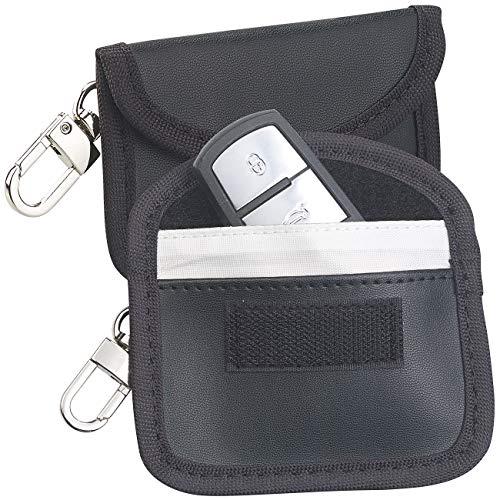 Semptec Urban Survival Technology Autoschlüsseltasche: 2er-Set RFID-Schutztaschen für Keyless-Funk-Autoschlüssel, Kunstleder (Autoschlüssel Mäppchen)