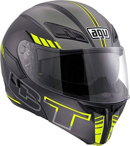 AGV Casco Moto Compact St E2205 Multi PLK, Seattle Matt Black/Silver/Yellow Fl, XS