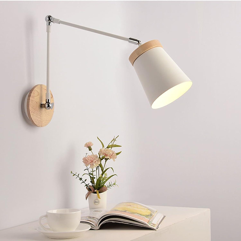 Leuchte Nordic moderne minimalistische kreative Wohnzimmer Schlafzimmer   Bett LED Metall lange Arm Wandleuchte (einstellbar Abstand) (Farbe   B)