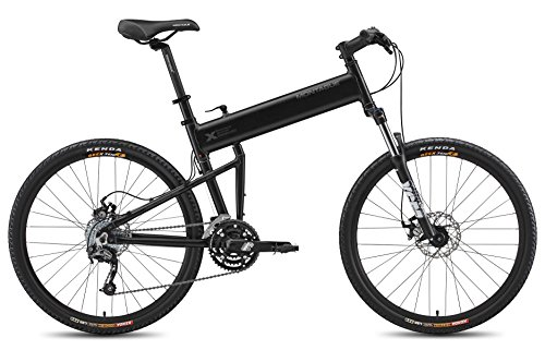 Montague 18-Inch Paratrooper Pro Folding Bike, Matte Black