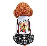 MUXIAND Lindo león Decorativo Perro Abrigo Moda Patchwork Cuatro Patas Babero...