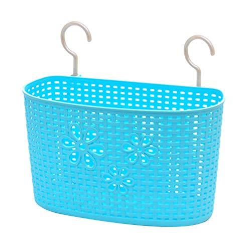 Weimay - Cesta colgante de plástico para cocina, baño, almacenamiento, gel de ducha, champú, ropa líquida, lavabo, cesta colgante, jabón, cesta de desagüe