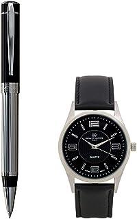 Renato Landini Men's Stylish Leather Watch & Pen Set [RP9057 BM]