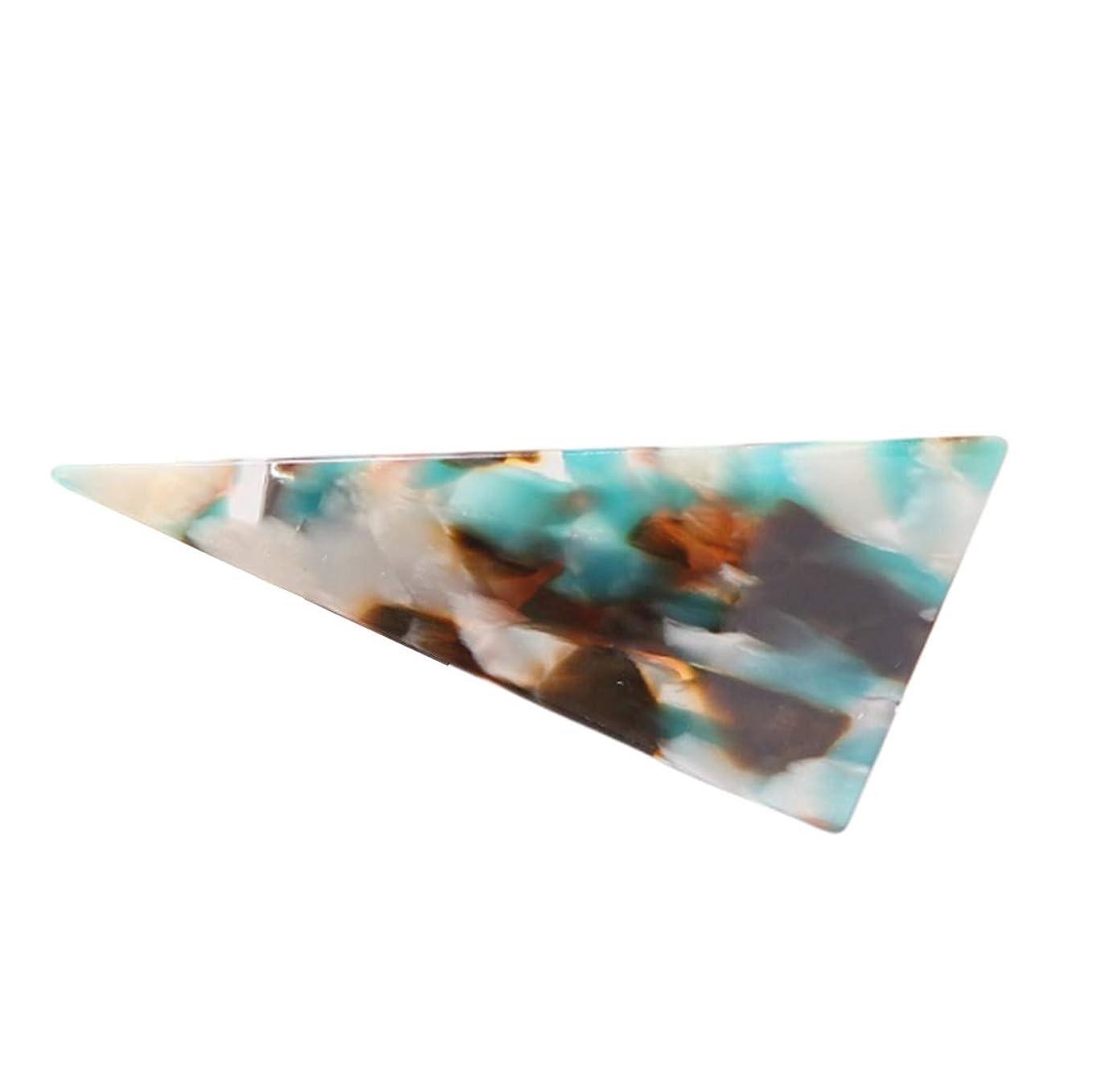 ベテラン葉アーティキュレーションKimyuo 大人気 新鮮な甘いキャンディーカラーヘアクリップ女性大理石織り目加工アセテートダックビルヘアピンポニーテール装飾三角形バレッタ