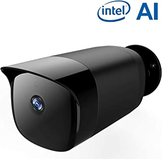 SimCam AI Outdoor Security Camera - On-Device AI Outdoor Surveillance Camera with Face Recognition, Person Detection, IP66 Waterproof, FHD Night Vision, 2-Way Audio, Work with Alexa&Google Assistant