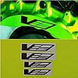 R&G CTS-V Logo Brake Caliper HIGH TEMP Decal Sticker Set of 4 (Black Matte)