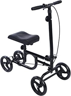 ELENKER Economy Knee Walker Steerable Medical Scooter Crutch Alternative Black