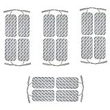 16 electrodes pour electrostimulateur SPORT-ELEC - 10 x 5 cm - pads pour électrostimulateurs SPORT ELEC équipés d'électrode filaire de 2 mm - électrode patch musculation - electrostimulation TENS EMS