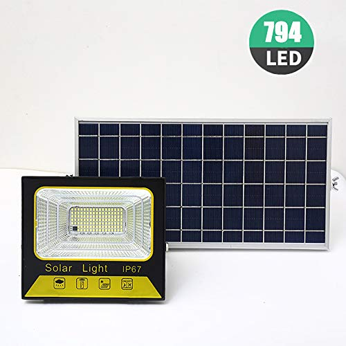 FGAITH Luz Solar Exterior Foco Solar con Sensor Movimiento Foco Led Solar Exterior lluminacion Exterior Solar 155 LED IP65 Impermeable Luz Solar Exterior para Entrada Garaje Patio y Jardín,500w