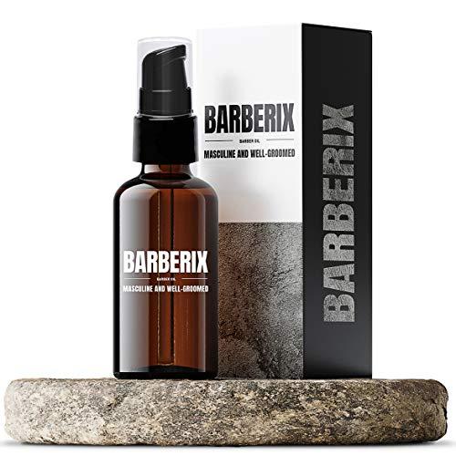 BARBERIX Premium Bartöl Herren Pflegeöl für natürliche Bartpflege - MADE IN GERMANY Bart-Öl Bartpflege - Das 100% hochwertige Bart Öl auf Jojobaöl Basis - Geschenk für Männer - Glas 50ml