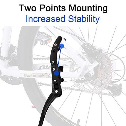 DIAOCARE Fahrradständer, Seitenständer Fahrrad Universal Aluminiumlegierung Fahrrad Ständer Rutschfester Gummiständer für 24-29 Zoll, Mountainbike, Rennrad, Fahrräder und Klapprad, Höhenverstellbar - 2