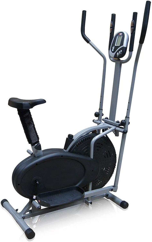 自宅またはジムでのフィットネス強度調整トレーニングのための楕円運動クロストレーナーマシン 輸送ホイール付き (色 : ブラック, サイズ : 110x50x155cm)