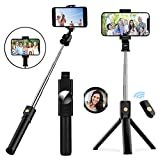 TVACHE Selfie Sticks,Extendable Bluetooth Selfie Stick Tripod with Wireless Remote for iPhone 12/12 Pro/11/ XS Max/XR/X/8/8 Plus/7/6s,Galaxy S20/S10/S9/S8/S7,iOS Android Phone Holder
