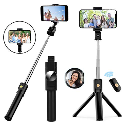 Selfie Stick Tripod,TVACHE Extendable Bluetooth Selfie Stick with Wireless...