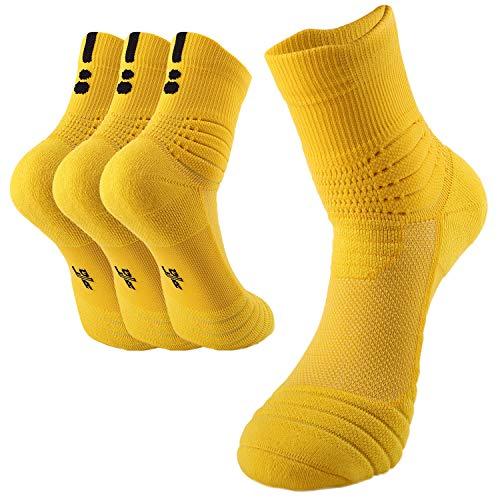 Calcetines amarillos deportivos (3 pares)