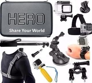 Pacote com Acessórios para Gopro Hero 5 Hero 6 Kit com Case Grande Impermeável Caixa Estanque Pau de Selfie a prova dágua (11 itens)