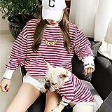 ZLALF Padres-Mascotas Ropa De Tira Disfraces para Perros Pequeños Gatos Y Mamás -Pet Dueño Y Mascotas Conjuntos Familiares para Perros Y Gatos Camisa,Red-3XL