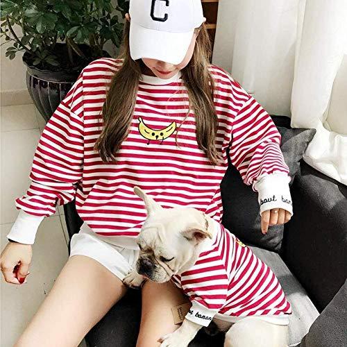 ZLALF Padres-Mascotas Ropa De Tira Mascotas Dueño Y Mascotas Ropa para El Hogar Trajes Disfraces para Perros Pequeños Gato Y Mamá para Perros Y Gatos Camisa,L-and Parent Clothes