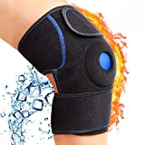 DIANMEI Knee Ice Pack Wrap for Knee Pain Relief, Hot & Cold Therapy Knee Support Brace - Reusable Compression Sleeve Best for Bursitis Pain Relief, Meniscus Tear, and Injury Recovery