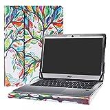 Alapmk Diseñado Especialmente La Funda Protectora de Cuero de PU para 14' Acer Swift 3 14 SF314-51 SF314-52 SF314-52G SF314-53G Series Ordenador portátil,Love Tree