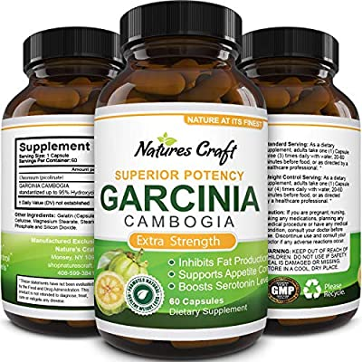 80% Hca Pure Garcinia Cambogia Extract - Natural 120 Capsules - Highest Grade For Weight And Appetite Control - Best Premium Quality As Experts Recommend - Potent Strength & Usa Made Natures Design