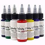 LIXONG 7 Unidades de pigmento de tinta de colores básicos de tatuaje 1 oz 30 ml / kit de tinta de botella para suministros de tatuaje