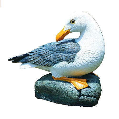 VBNHGF Statues Statue Seagull Bird Statue Home Decoration Crafts Animal Garden Resin Sculpture-A_As_Shown