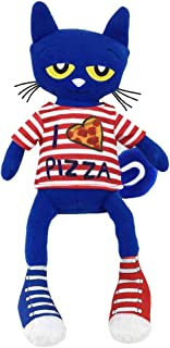 MerryMakers Pete The Cat Pizza Party Soft Plush Blue Cat Stuffed Animal Toy, 14.5-Inch, from James Dean's Pete The Cat Book Series