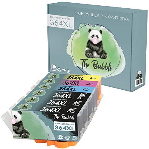 The Bubbli Original | 364 364XL Cartucho de Tinta Compatible para HP Photosmart 7520 C310A 7510 C410a C309g C6380 C309a D7560 D5460 B8550 C410b C309n C6324 C5324 C6388 D5468 C5380 (6-Pack)