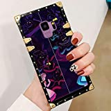 DISNEY COLLECTION Alice in Wonderland Square Edge Case Compatible for Galaxy S9 (2018) 5.8-Inch