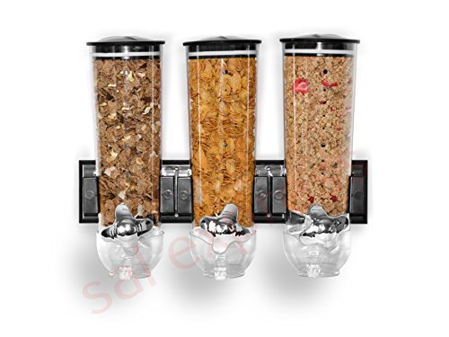 SaleemSpace - Dispensador / unidad de almacenamiento triple de cereales y...