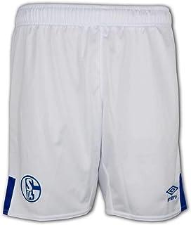 FC Schalke 04 Short Home 2019/2020 - Pantalones cortos para hombre, color blanco y azul, talla L