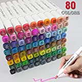 Best Adult Markers - 80 Colors Alcohol Markers Dual Tips Permanent Art Review